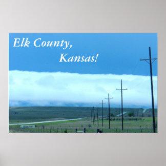 Poster:  ¡El condado de Elk, Kansas! Póster