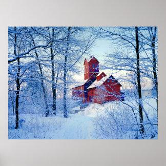 POSTER    el molino rojo viejo