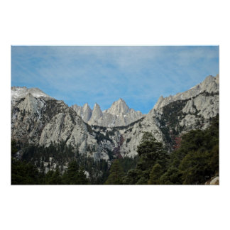 Poster el Monte Whitney de la bella arte