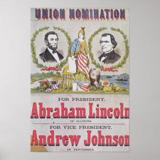 Poster electoral de la campaña para la unión