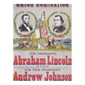 Poster electoral de la campaña para la unión postales