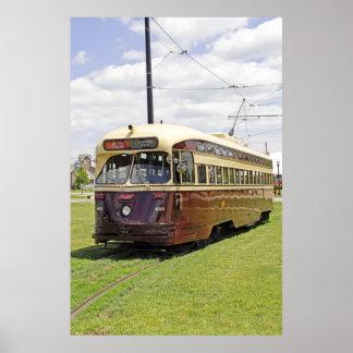 Poster eléctrico de la tranvía de Brown