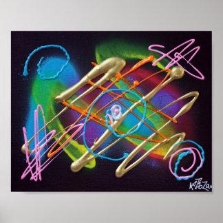 Poster eléctrico de las noches póster