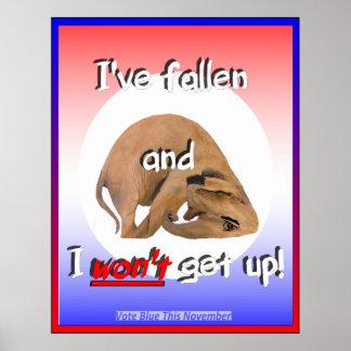 POSTER ¡Elefante del GOP he caído y no me levant