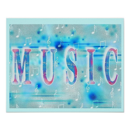Poster elegante de la música