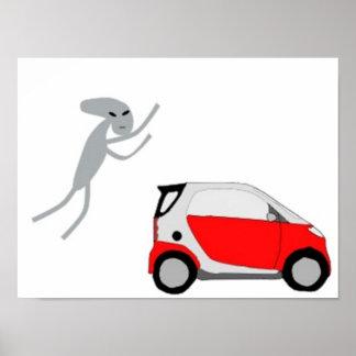 Poster elegante del coche