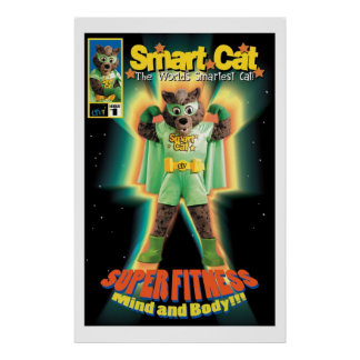 Poster elegante del gato de ETV