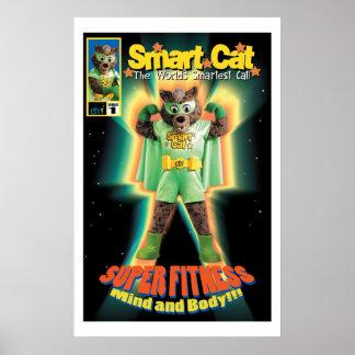 Poster elegante del gato de ETV Póster