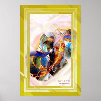 Poster elegante enmarcado de oro del arte de la