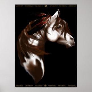 Poster emplumado del caballo