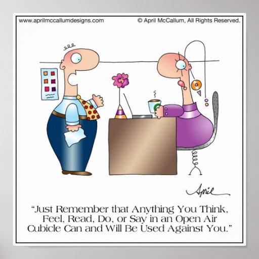 Poster en abril McCallum del dibujo animado del AM