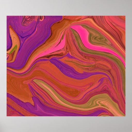 Poster en colores pastel del arte abstracto del ca