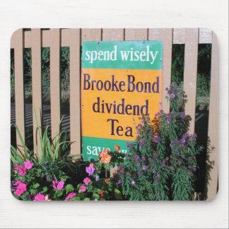 Poster en enlace de la publicidad del té de Brooke Alfombrillas De Raton