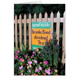 Poster en enlace de la publicidad del té de Brooke Tarjeta De Felicitación