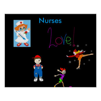 Poster-Enfermera de la sala de clase Póster