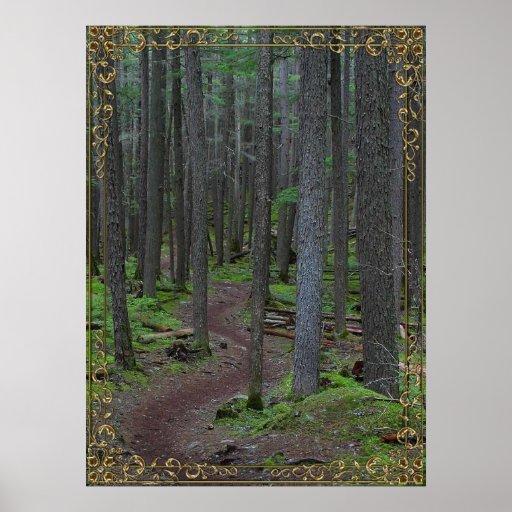 poster enmarcado del rastro del bosque A PARTIR