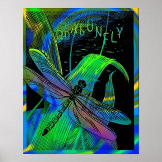 Poster enmarcado libélula