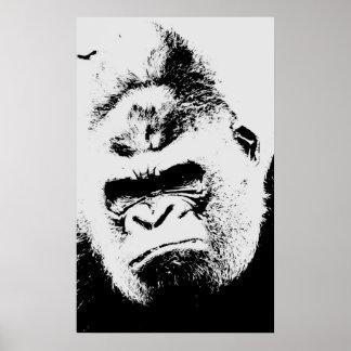 Poster enojado del arte pop del gorila