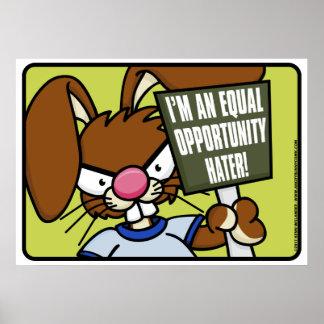 Poster enojado del enemigo del conejito