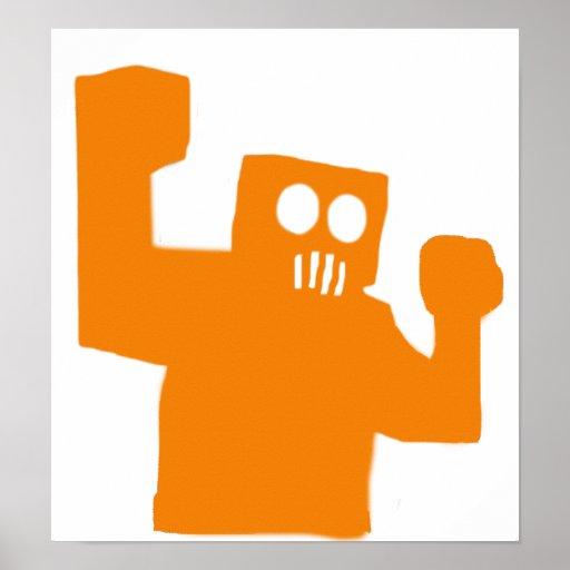 Poster enojado del robot