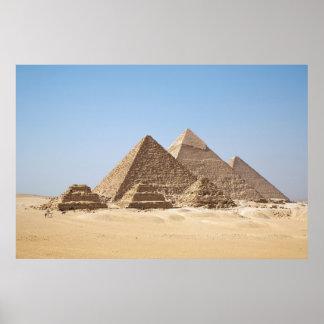 Poster enorme de las pirámides de Egipto-Gizah