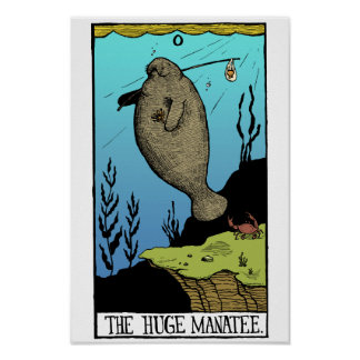 Poster enorme del Manatee Póster