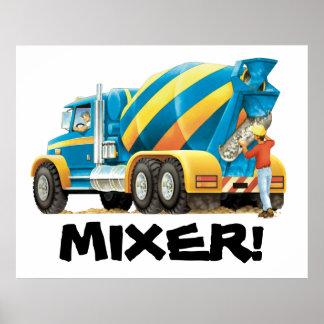 Poster enorme del mezclador