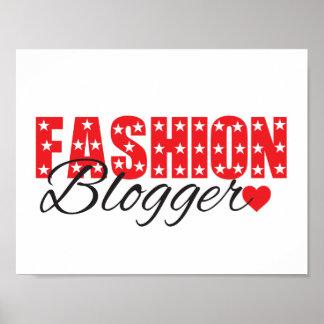 poster enrrollado del blogger de la moda de las póster