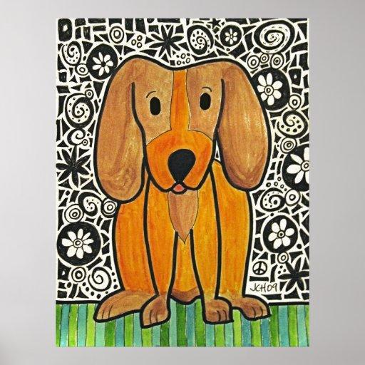 Poster enrrollado del perrito