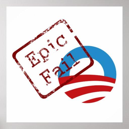 Poster épico del fall de Obama