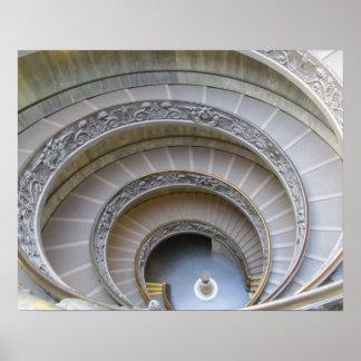 Poster--Escalera espiral
