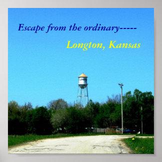 Poster: Escápese del ordinario, Longton, Kansas Póster
