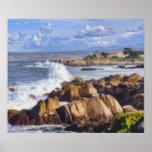 Poster escénico de la costa de Monterey California
