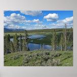 Poster escénico de la opinión del río Yellowstone