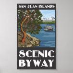Poster escénico del camino apartado de las islas d póster