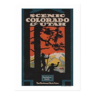 Poster escénico del viaje de Colorado y de Utah Postales