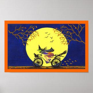 "Poster ""escoba rota "" del arte de Halloween"