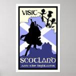 Poster escocés de la montaña