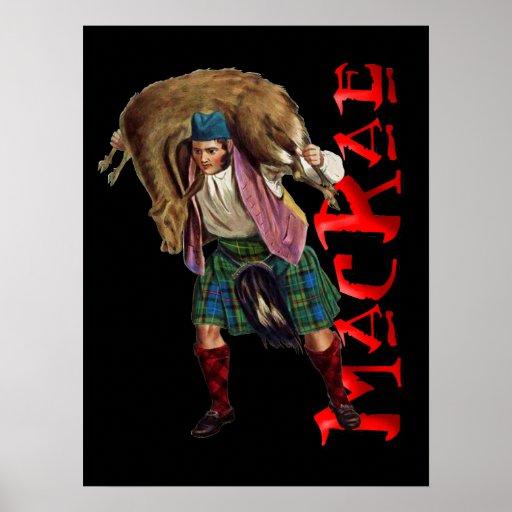 Poster escocés del sueño de la montaña de MacRae d