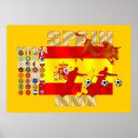 Poster español colosal de la bandera de Futbol Tor Póster