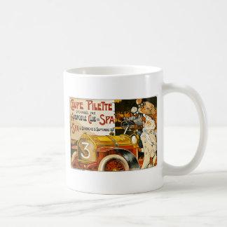 Poster español del automóvil del vintage de Pilett Taza De Café