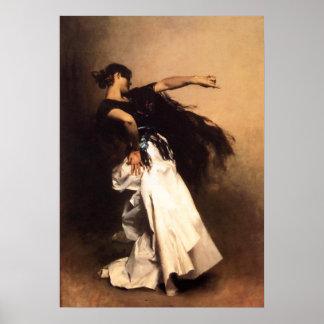 Poster español del bailarín de Sargent del cantant