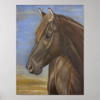 Poster español del caballo