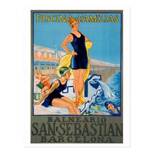 Poster español del centro turístico postal