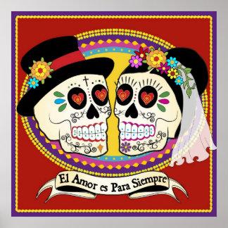 Poster (español)/impresión del Los Novios