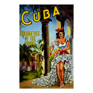 Poster especial del viaje de Cuba del vintage Póster
