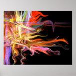 poster espeluznante de la bella arte del fractal d