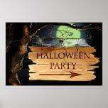 Poster espeluznante viejo del fiesta de Halloween