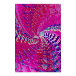 Poster: Espiral abstracto/psicodélico