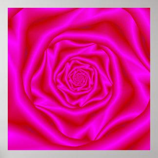 Poster espiral color de rosa rosado
